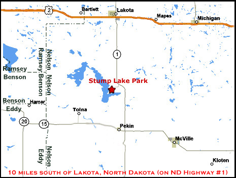 Stump Lake Park Map